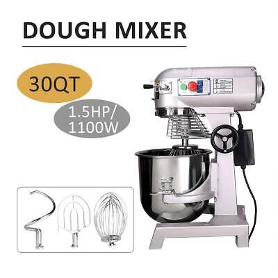30L Commercial Dough Mixer Planetary Stand Food Cake Bread Beater Whip 1100W