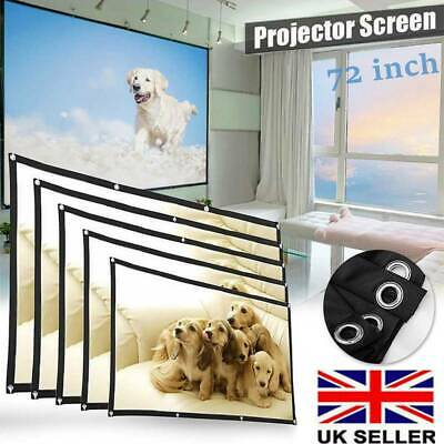 "72"" Portable Projector Screen in Home Outdoor Camping 3D HD 16:9 Cinema Theater"