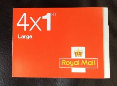 Royal Mail 1st Class Large Letter Postage Stamps 1 x 4 (Stamps) Pack