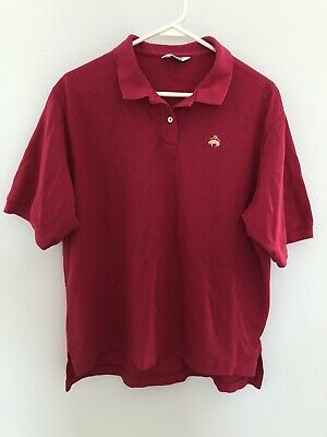 VTG 90s Brooks Brothers Golden Fleece Polo Rugby Shirt Pink USA Made Men's Sz L