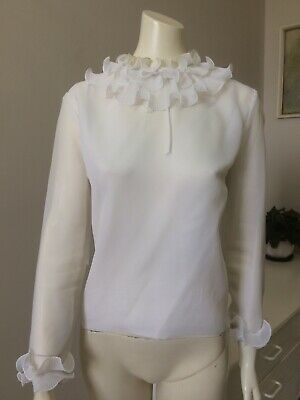 Original Vintage 60s Top Blouse Medium Size , Pinup Mod ,Go Go Boho Retro