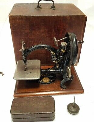 ANATIGUA maquina de coser  Willcox & Gibbs de 1908 antique sewing machine