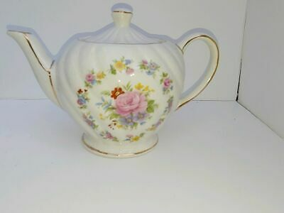 vintage teapot rose flower