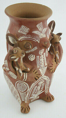 Pre-Columbian Style Terra Cotta Animals, Hand Painted