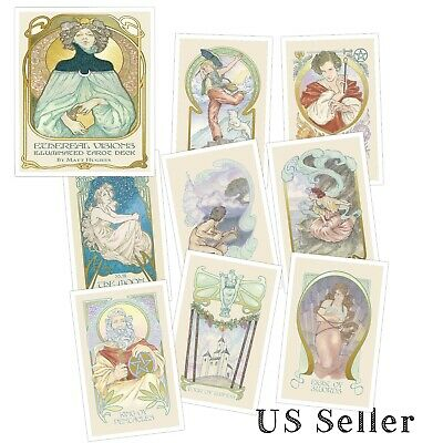 Ethereal Visions Illuminated Tarot Deck by Matt Hughes 48 Page Booklet USGS