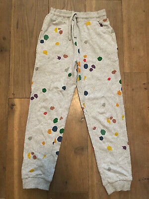 Stella McCartney Girl Multicolour Paint splash Grey Joggers Tracksuit Bottoms 10