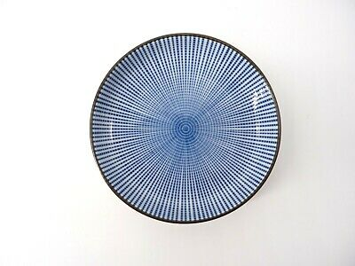 Striated Japanese Blue & White Small Plate