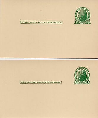 Pair of Mint 1914 Thomas Jefferson 1 Cent Prepaid Postcards
