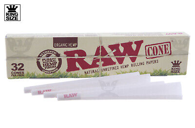 AUTHENTIC RAW (32 CONES) ORGANIC King Size Pre-Rolled - Free FAST Shipping