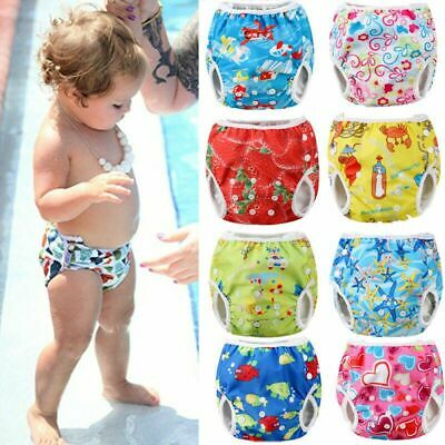 Adjustable Baby Girls Boys Cartoon Summer Swim Diaper Swim Trunks Beach Shorts