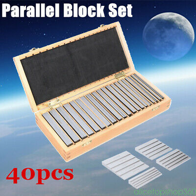40PC Parallel Steel Gauge Block Set Ground Steel Precision CNC Milling