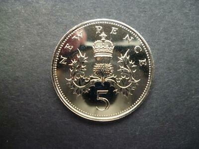 1972 Proof Five  Pence Piece Capsuled.the 1972 5P Was Only Issued In Proof Form.