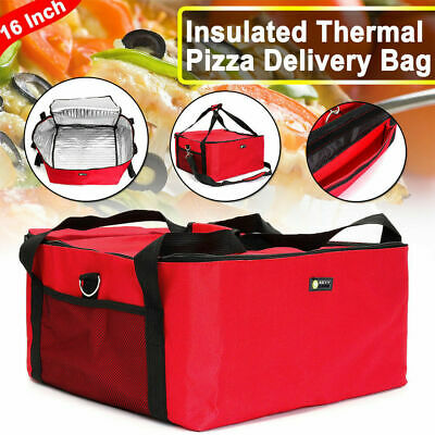 NEW Pizza delivery Bag Insulated Thermal Food Storage Delivery Hold 16 inch Pizz