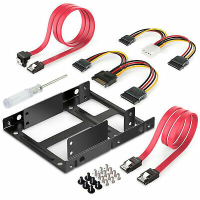 "2.5"" to 3.5"" SSD to HDD Mounting Kit Adapter Bracket Hard Disk Drive Holder Dock"