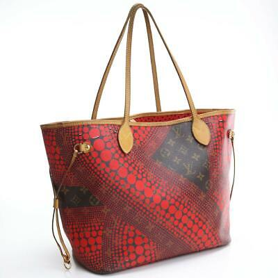 Louis Vuitton tote bag collection Yayoi Kusama neverfullMM M40686 red