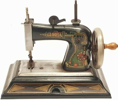 antigua maquina de coser CASIGE GLORIA  Antique Child's Metal Toy Sewing Machine