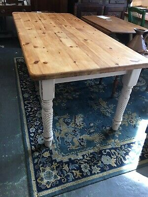 8 /10 Seater Large Rustic Solid Pine Farmhouse Country Kitchen Dining Table