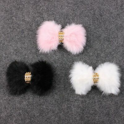 Hairband Newborn Infant Baby Headband Set Rhinestone Large Bow Faux Rabbit Fur