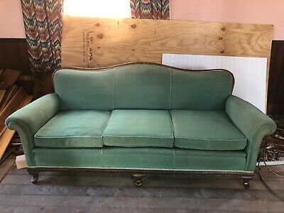 1920's Antique Sofa Beautiful Frame with Nice Upholstery Ready to Use No Reserve