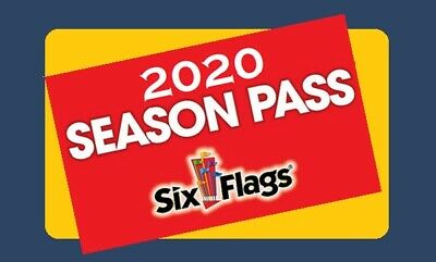 Six Flags 2020 Gold Pass - Season Parking Included