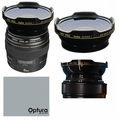 HD3 WIDE ANGLE LENS + MACRO LENS FOR Canon EF 85mm f/1.8 USM Lens