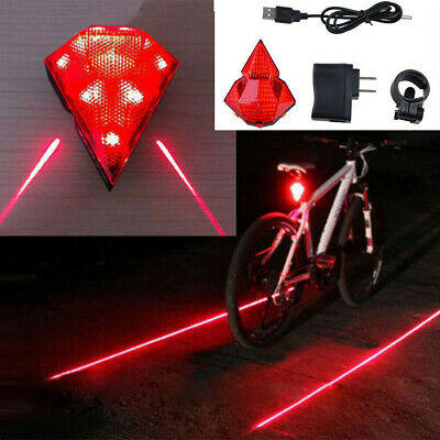 5 LED 2 Laser Flashing Lamps Light Rear Cycling Bike Tail Safety Warning GL675