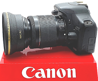 HD WIDE ANGLE LENS + MACRO FOR Canon EOS Rebel T6 with 18-55mm 75-300MM LENSES
