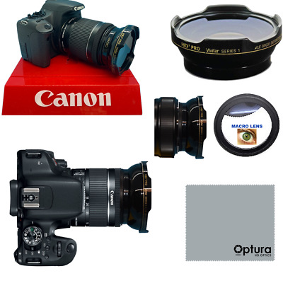 HD3 PRO WIDE ANGLE LENS + MACRO LENS FOR Canon Rebel EOS SL3 SL1 XT XS XSI XTI