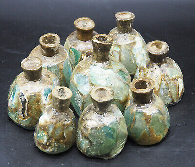 Excellent Rare Ancient Roman Glass Best collection Lot 9 bottle #A451