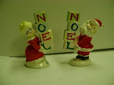 Napco Santa and Mrs. Claus Salt & Pepper Shakers  Noel
