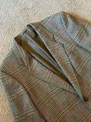 DONEGAL Made In Ireland TWEED Double Vent 2 Button Blazer Jacket Sz 44 S