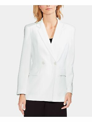 VINCE CAMUTO $159 Womens New White Parisian Crepe Wear To Work Jacket 4 B+B