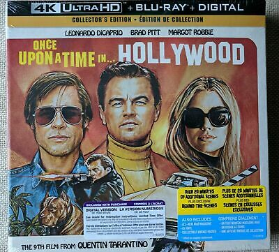 Once Upon a Time in Hollywood Collector's Edition 4K UHD Blu-ray Digital OOP NEW