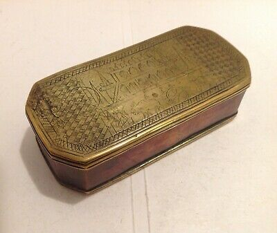 18Th Century Dutch Copper & Brass Tobacco Box Possibly Made For Indian Market