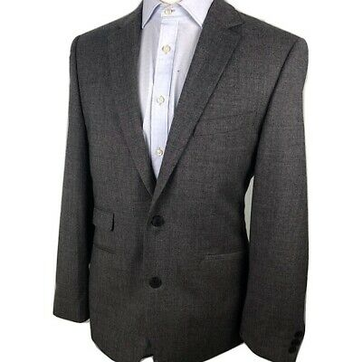 Vince Camuto Wool Blazer Jacket Gray 100% Wool Mens 42L Two Button Spot Coat