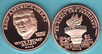 t4c 100 Trump White House With 2020 Rally Sign 1oz Proof Like Copper Round