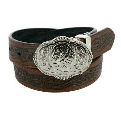 New Rogers-Whitley Kids Reversible Western Tooled Belt