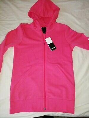 New Adidas Girls Pink Full Zip Hooded Track Top Age 13-14