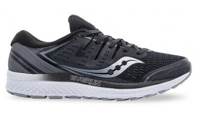 Saucony Men's Guide ISO 2 Sneakers Runners Shoes - Grey/Black