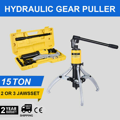 3in1 Hydraulic Gear Puller Pumps Oil Tube 3 Jaws Drawing Machine 15T US STOCK