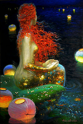Home Decor HD Prints oil painting art on canvas for living room Mermaid NVN46