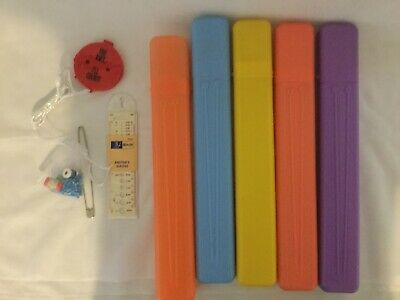 5 Assorted Needle Cases, Knitters Gauge,Stitch Counters,Stitch Markers
