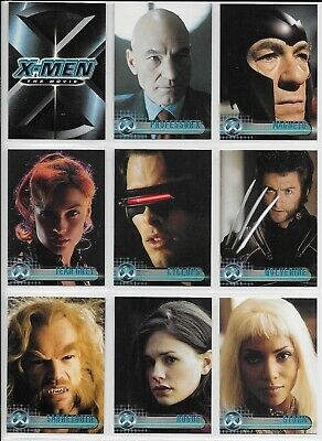 Topps Marvel X-MEN THE MOVIE Complete 72 Card BASE Set + Wrapper 2000