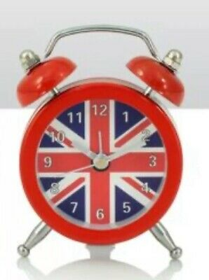 Souvenirs - Classic Alarm Clocks (Travel) with Union Jack Face A Very Nice Gift
