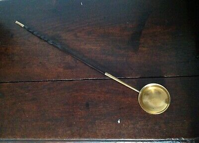 Rare Mid 18Th Century Gilded Brass Toddy Ladle, Ex Butler Collection