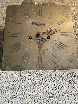 C1780 Antique Longcase Clock Movement and Brass Dial  EDWARD HOPKINS BRADFORD