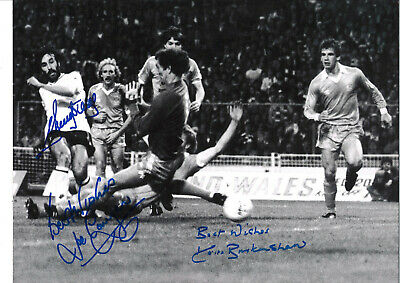 Multi Signed Tottenham Hotspur 16x12 inch authentic football photograph SS626