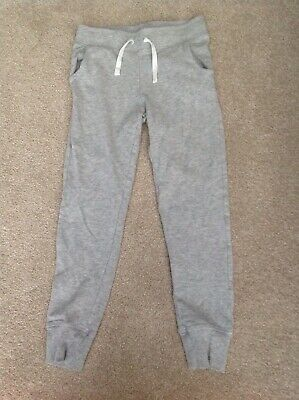 Girls Grey Tracksuit Bottoms Joggers Age 11-12 Years H&M