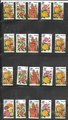 U S Stamps Used  2829 - 2833 Summer Garden Flowers One (1) Of These Vf Sets