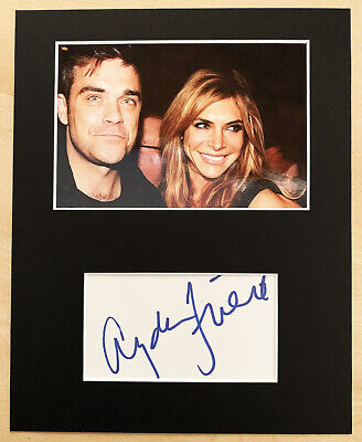AYDA FIELD HAND SIGNED Autograph Mounted With Photo ROBBIE WILLIAMS Loose Women